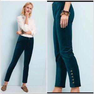 NWT Anthro Essentials Velvet Trousers Size 14